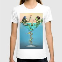 martini T-shirts featuring Frog Martini by Dino Turull