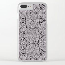 Grey Lace Coin Vintage Inspired Design Clear iPhone Case