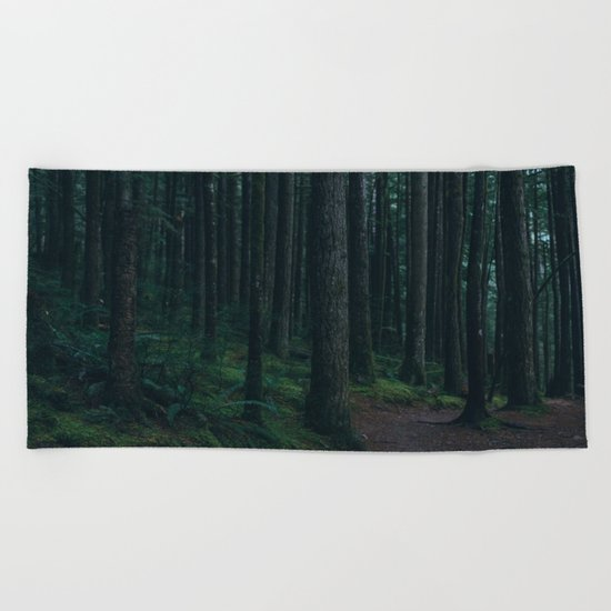 Forest mood Beach Towel