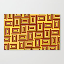Boxed Rectangles Maze Hedge Paths Tangle Quilt Canvas Print