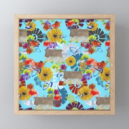 Barn and Windmill Floral Framed Mini Art Print