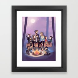 Adoptive sky parents Framed Art Print