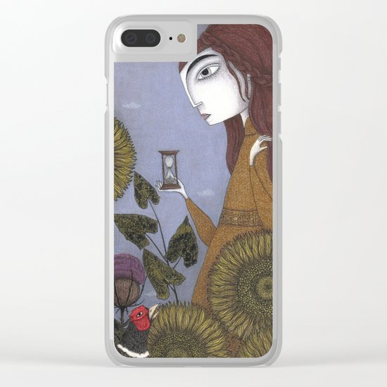 Thirty-eight Leaves Clear iPhone Case