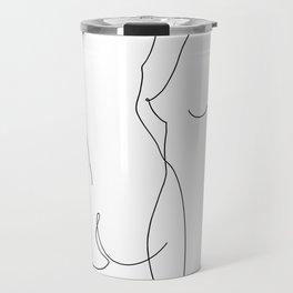 nude line arte couple Travel Mug