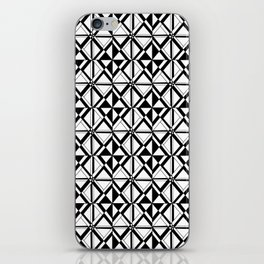 Symetric triangle 10 -vichy, gingham,strip,triangle,geometric, sober,tartan,mandala iPhone Skin