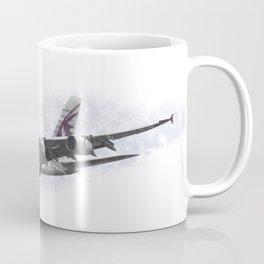 Qatar Airbus A380 Art Coffee Mug