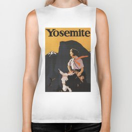 Retro Yosemite Travel Poster Biker Tank