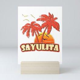 Sayulita Vintage Sunset Mini Art Print