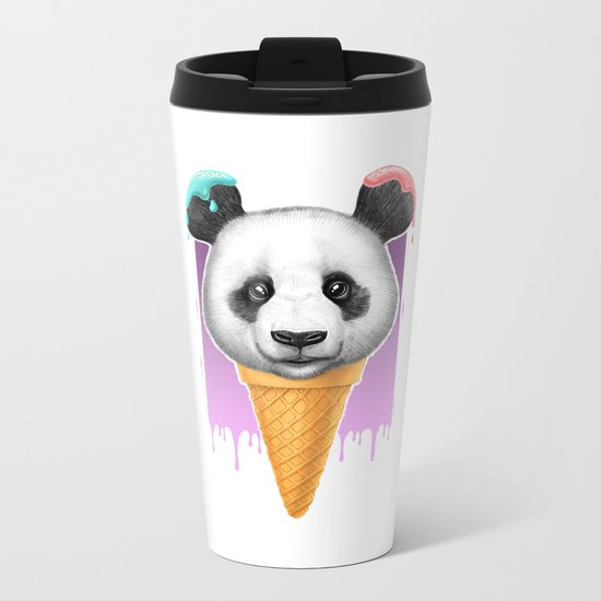 panda ice cream Metal Travel Mug