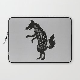 Who's Afraid of the Big Bad Wolf - Three Little Pigs Art Inspired Print Laptop Sleeve
