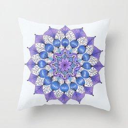 Rhapsodala in Blue Throw Pillow
