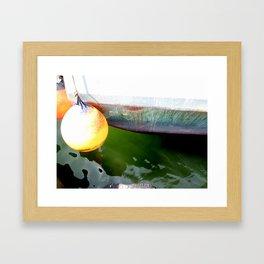 Colorful Hull Old Fishing Boat Framed Art Print