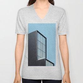Modern architecture art gallery in New York Unisex V-Neck