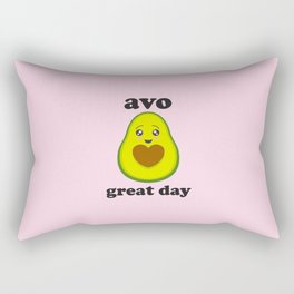 Avo Great Day, Funny, Cute, Quote Rectangular Pillow
