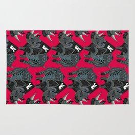 rhinoceros red Rug