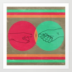 Pull your finger out  Art Print