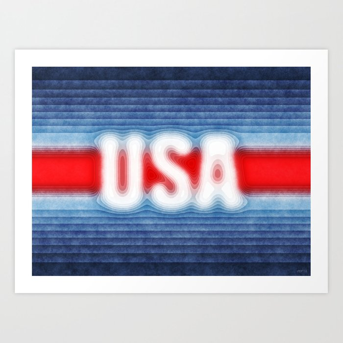 USA Typography Art Print