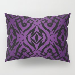 Purple tribal shapes pattern Pillow Sham