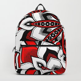 Mandala : Red Flower Mandala Backpack
