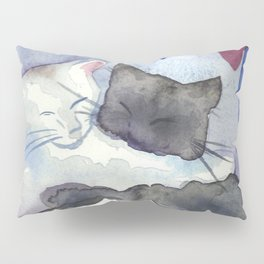 Cats With Soft Hearts Pillow Sham