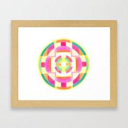 Mandala heart opening Framed Art Print