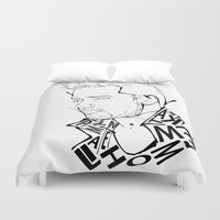 liam payne Duvet Covers featuring Typographic Liam by Ashley R. Guillory