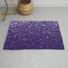Dark ultra violet purple glitter sparkles Rug