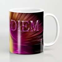 carpe diem Mugs featuring Carpe Diem by Walter Zettl