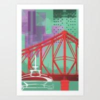 City Glitch / Brisbane 01 Art Print