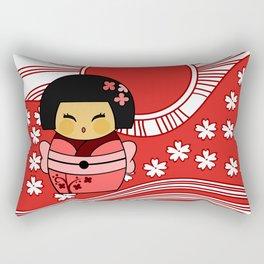 Kokeshi Sakura Rectangular Pillow