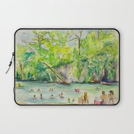 Krause Springs - historic Texas natural springs swimming hole Laptop Sleeve