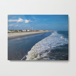 Folly Beach in Charleston - the other side Metal Print