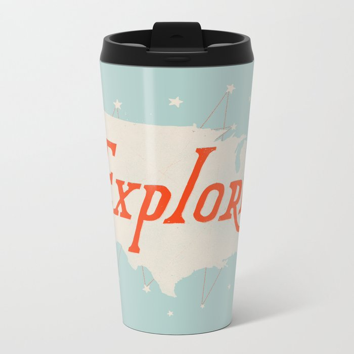 Explore Metal Travel Mug