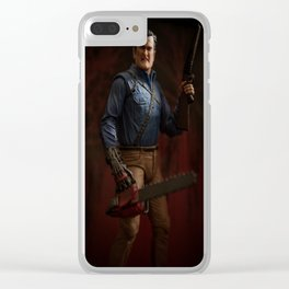 """I'm going to shove this right up some deadites ass! Hyah!"" Clear iPhone Case"