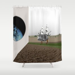 the truth is dead · expansion X Shower Curtain