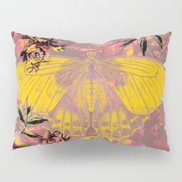 Mustard and Mauve Fairy Moth Pillow Sham