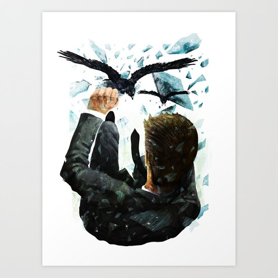 Falling To The Crows Art Print