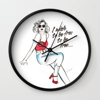 dot Wall Clocks featuring Dot by Christie  Elise