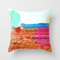 wind Throw Pillows featuring Wind by Kakel-photography