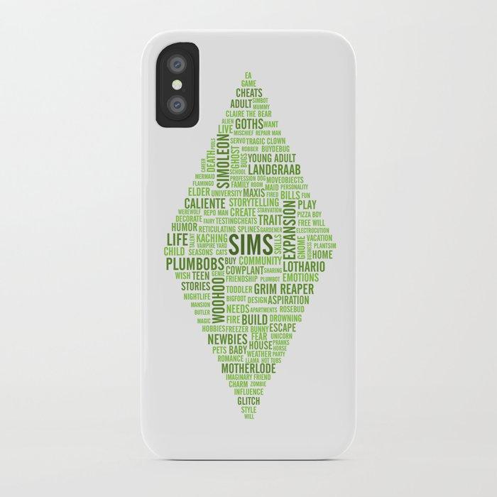 Sims Plumbob Typography IPhone Case