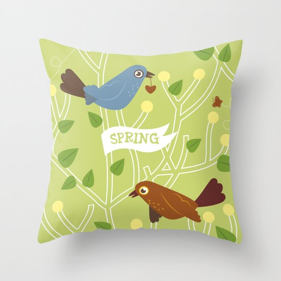 4 Seasons - Spring Throw Pillow