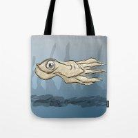 squid Tote Bags featuring Squid by elledeegee