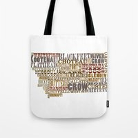 montana Tote Bags featuring Montana by Madison Apple