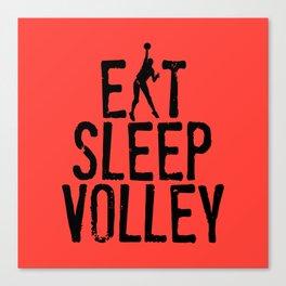 Eat Sleep Volley Canvas Print
