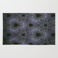 constellations Area & Throw Rugs featuring constellations by monicamarcov