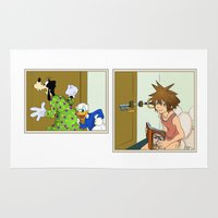 kingdom hearts Area & Throw Rugs featuring KINGDOM HEARTS: WINNIE THE POOP   by Gianluca Floris