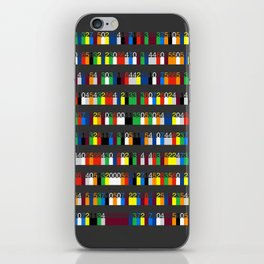 Color by Number: Pi iPhone Skin