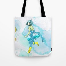 Hoop skirts and Rain boots. Tote Bag