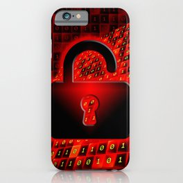 Unprotected data iPhone Case