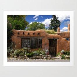 Casita de Santa Fe Art Print